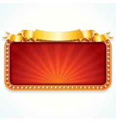 Theater Marquee Luxury Sign vector image vector image