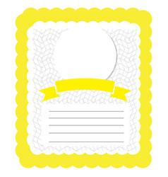 vintage invitational card vector image vector image