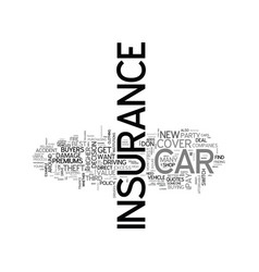 A guide to car and motor insurance text word vector