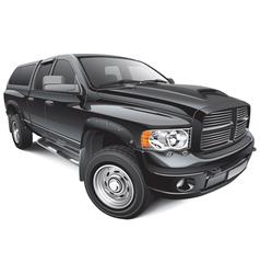 black large pickup vector image vector image