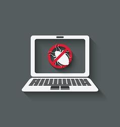 computer bug warning symbol vector image