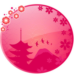 japanese icon vector image