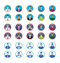 Male and female faces icons avatars vector image vector image