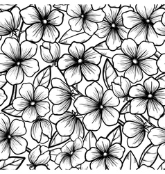 seamless background Blossoming branches of trees vector image vector image