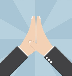 Two Businessmen hands giving a high five vector image vector image