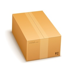 cardboard packing box closed vector image vector image