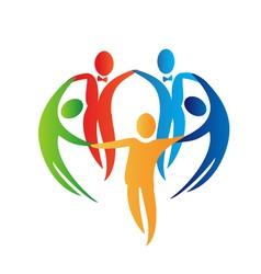 Diversity teamwork logo vector image vector image