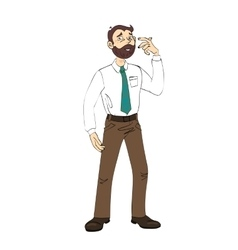 Male office worker vector image