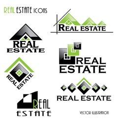 Modern Real estate icons vector image vector image