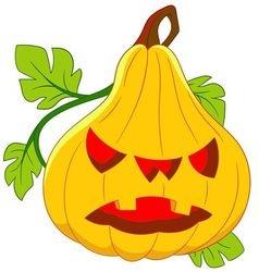 pumpkin on halloween vector image