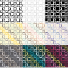 Set of 9 seamless backgrounds vector