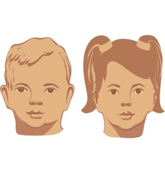 smiling baby faces on a vector image