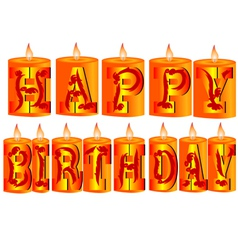 birthday candle as greeting vector image vector image