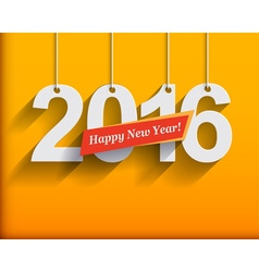 2016 White Paper Origami card or background Happy vector image
