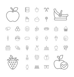 37 sweet icons vector image