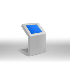 3d realistic digital informational kiosks vector image