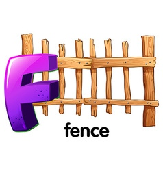 A letter F with a fence vector
