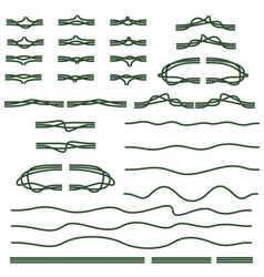 a set of seamless realistic electrical wires to vector image
