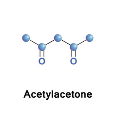 Acetylacetone diketone form vector