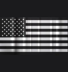 american flag awareness campaign against racial vector image