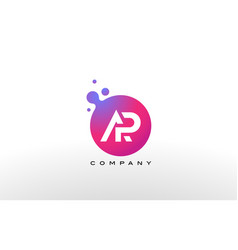 ap letter dots logo design with creative trendy vector image