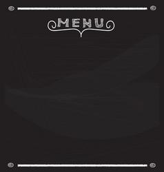 blank menu on blackboard vector image