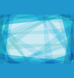 blue geometric retro lines abstract background vector image
