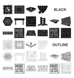 Board game black icons in set collection for vector