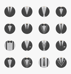 Businessman Suit Icons with White Background vector image