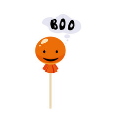 candy lollipop holiday halloween character vector image