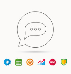 chat icon comment message sign vector image