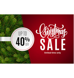 christmas holiday sale 40 percent off vector image