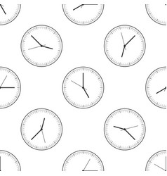 clock icon seamless pattern time icon vector image