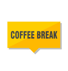 Coffee break price tag vector