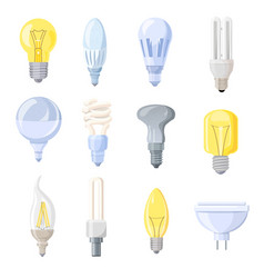 Collection of different bulbs vector