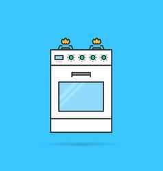 color linear gas stove icon vector image