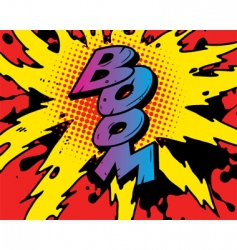 comic boom vector image vector image