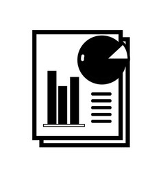 contour document with statistics bar diagram vector image