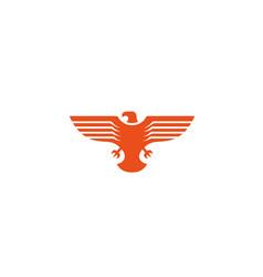 Creative bird wings logo vector