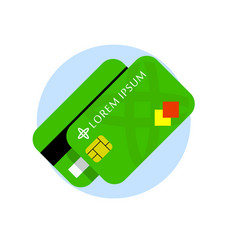 credit card flat icon credit cards front vector image