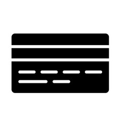 credit card silhouette icon minimal pictogram vector image