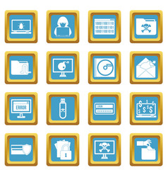 criminal activity icons azure vector image