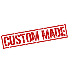 custom made stamp vector image