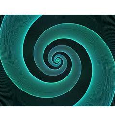 Cyan spiral design background vector