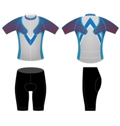 Cycling clothing t shirt vector