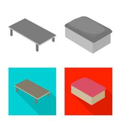 design of bedroom and room symbol set of vector image