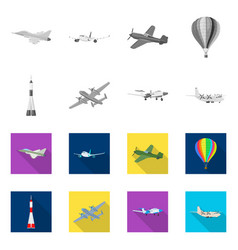 Design of plane and transport logo set of vector