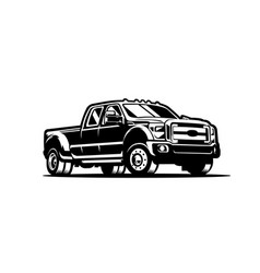 dually truck diesel side view isolated vector image