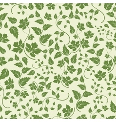 Eco seamless pattern with green leaves vector image