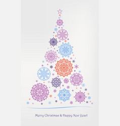 elegant luxurious greeting card for christmas and vector image